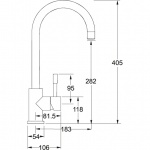 Stainless Steel Monobloc Lever Mixer Tap