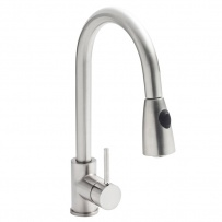 Stainless Steel Mono Tap With Pull Out Spray Head