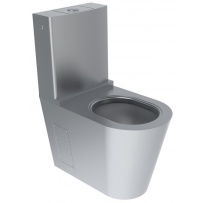 Close Coupled Stainless Steel Toilet