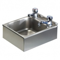 Compact Wall Mounted Stainless Steel Hand Basin