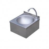 Leg Operated Stainless Steel Hand Basin #1