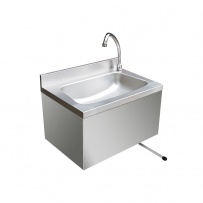 Large Stainless Steel Hand Basin with shroud & wall rod