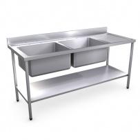 1800 x 700mm Sink (Large Bowl)