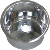 Cylindrical Inset Stainless Steel Hand Basin (⌀300mm)