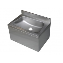 Large Stainless Steel Hand Basin with shroud