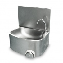 Leg Operated Stainless Steel Hand Basin - Heavy Duty