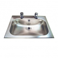 Inset Stainless Steel Hand Basin With Tap Holes